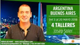 Del 3 al 20 Mayo 2018 ( Buenos Aires, Argentina ) - Reserva - PACK 4 TALLERES con Josep Soler