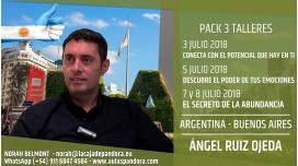 3, 5, 7 y 8 Julio 2018 ( Buenos Aires, Argentina ) - RESERVA - PACK 3 TALLERES con Ángel Ruiz Ojeda