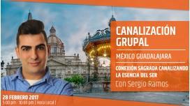 Flyer CANALIZACIÓN GRUPAL, Conexión Sagrada canalizando la esencia del Ser - Sergio Ramos