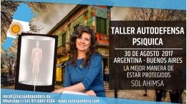 30 Agosto 2017 ( ARGENTINA ) - RESERVA - Taller de Autodefensa Psíquica - Sol Ahimsa