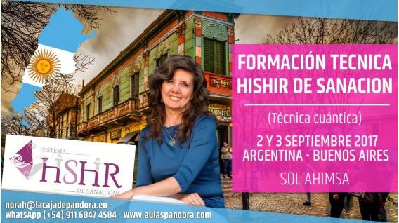 2 y 3 Septiembre 2017 ( ARGENTINA ) - RESERVA - Formación: Técnica HISHIR DE SANACIÓN - Sol Ahimsa