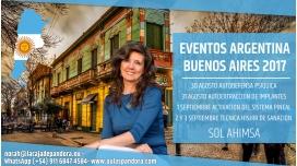 PACK COMPLETO - Del 30 Agosto al 3 Septiembre 2017 ( ARGENTINA) - RESERVA - 3 Talleres y 1 Formación - Sol Ahimsa