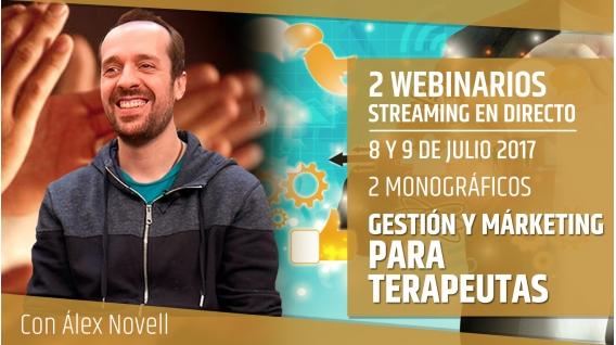 8 y 9 Julio 2017 - 2 MONOGRÁFICOS DE GESTIÓN Y MÁRKETING PARA TERAPEUTAS - Álex Novell