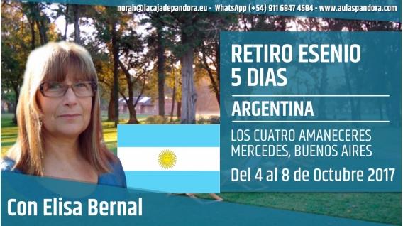 Del 4 al 8 Octubre 2017 (ARGENTINA) - Reserva - RETIRO ESENIO con Elisa Bernal