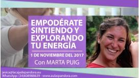 1-NOV - Empodérate sintiendo y explorando tu energía con Marta Puig